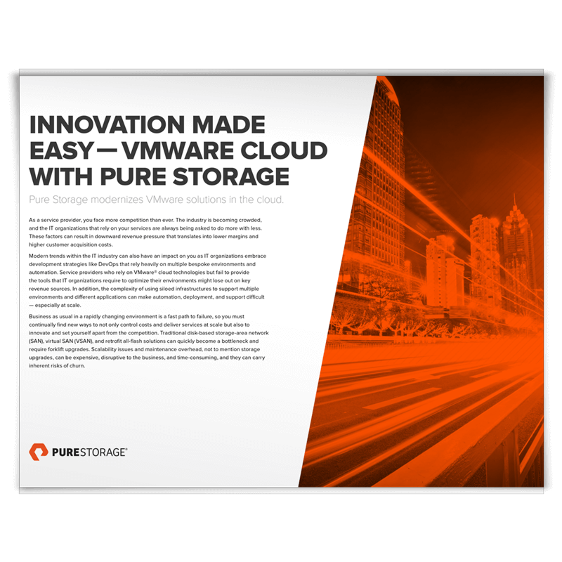 innovation made easy vmware cloud with pure storage ピュア