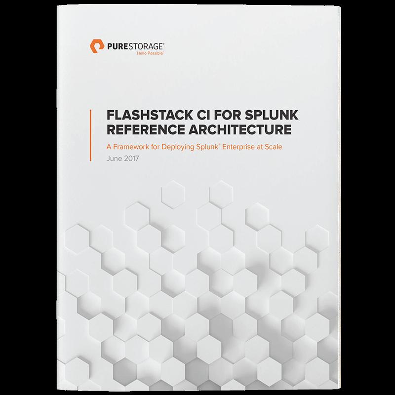FlashStack CI Reference Architecture for Splunk | Pure Storage