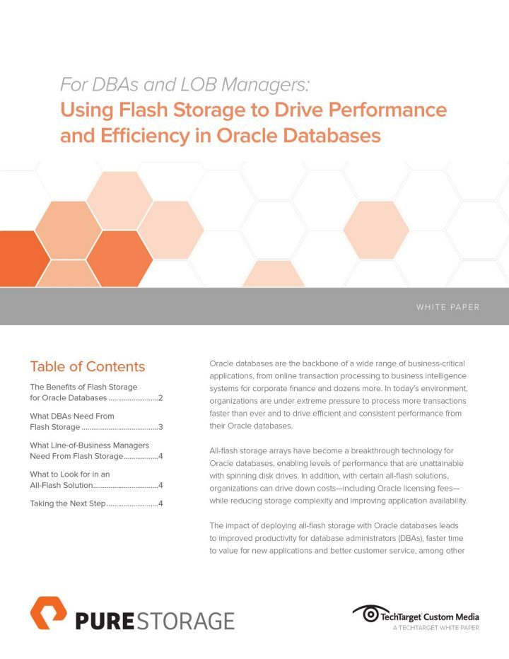 Oracle on Flash   Pure Storage