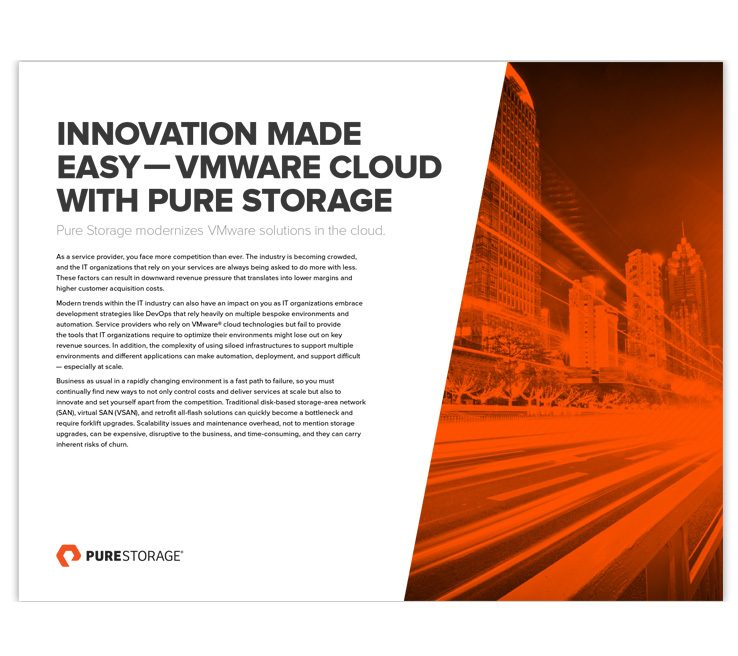 VMware Private Cloud Storage for Software-Defined Data