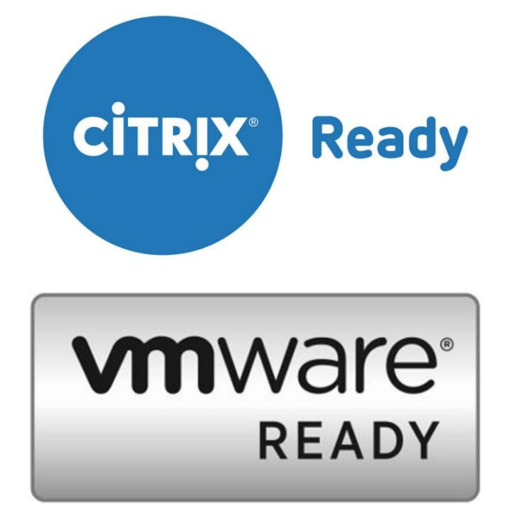 Complete integration with Citrix VDI Solutions and VMware VDI Solutions